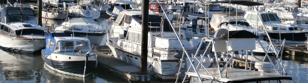 Hampshire Web Designer Gethyn Jones - photo of Haslar Marina in Gosport