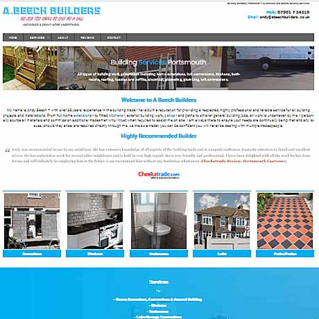 web design Hampshire for Beech Builders