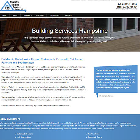Alternative Building Services, Waterlooville, Hampshire