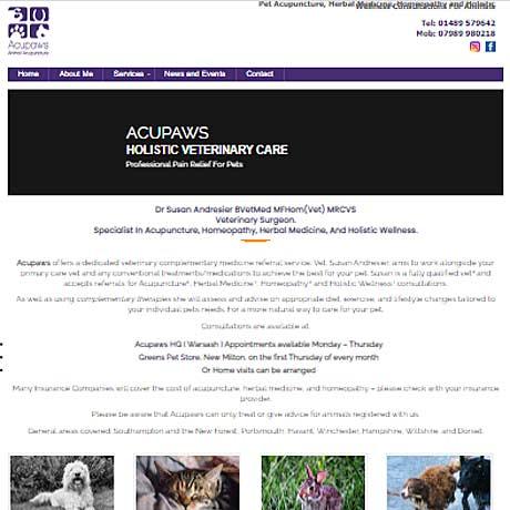 acupaws - web design hampshire