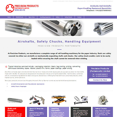 Precision Products Portsmouth Ltd - airshafts