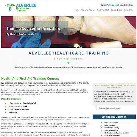 Alverlee Healthcare Ltd, first aid traing across Hampshire