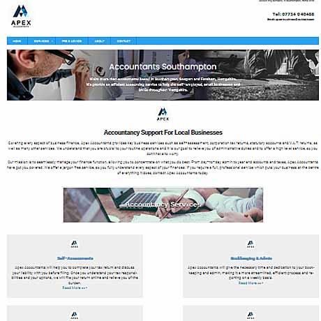 apex - web design hampshire