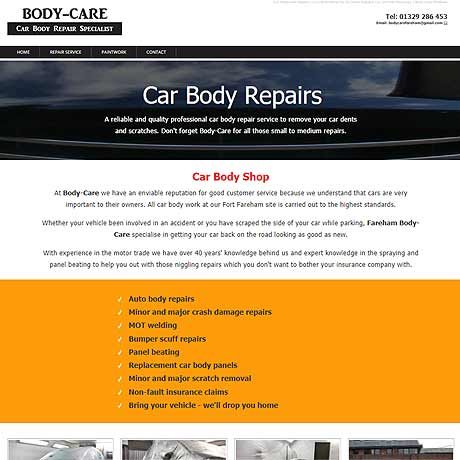 Car body repairs in Fareham