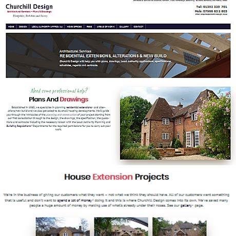 Churchill Design, Aldershot, Farnham, Fleet, Farnborough, Godalming, Guildford, Camberley and Yateley areas