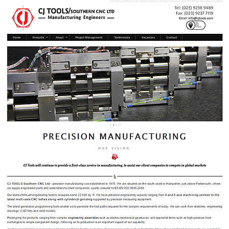 CJ Precision Tools, Portsmouth, Hampshire