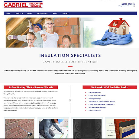 Website Design Havant - example of a web design for a Havant Cavity Wall insulation company