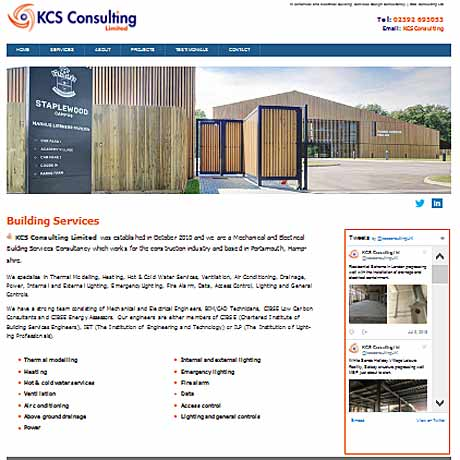 Website hosting for KCS Consulting Portsmouth