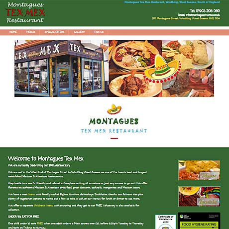 Montagues Tex Mex, Worthing