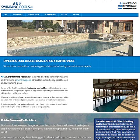 A & D Swimming Pools, Hampshire