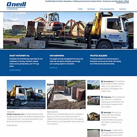 O'Neill Construction< Fareham, Hampshire, Surrey, Berkshire