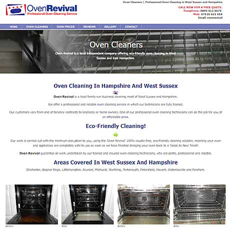 Oven Revival, Oven Cleaning in Chichester, West Sussex and Hampshire
