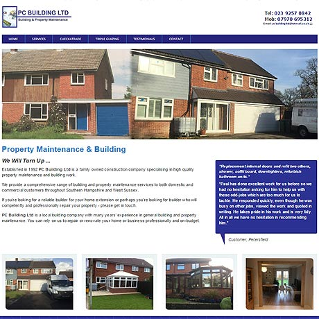 PC Building Ltd, builders in the Waterlooville area