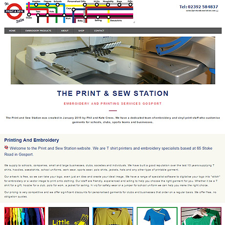 The Print & Sew Station, Emroidery service in Gosport