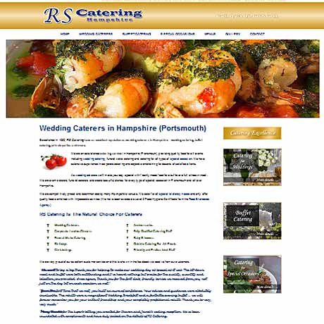 RS Catering, for weddings and functions in and around Portsmouth