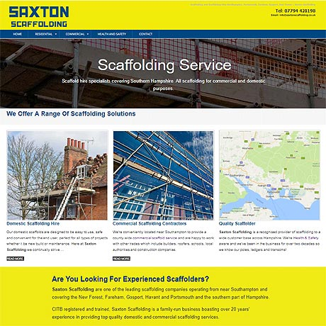 Scaffolding Service for Southampton, Portsmouth, Havant, Fareham, Gosport, Emsworth and Chichester