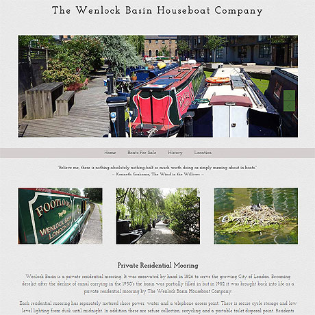 The Wenlock Basin Houseboat Company, London