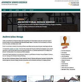 Website Design Sothampton and Eastleigh - example of a web design for a Portsmouth Electricians 4U
