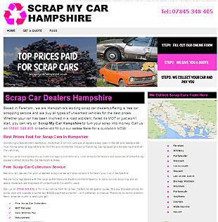 web designer Gethyn Jones builkt this website for a scrap cars merchant