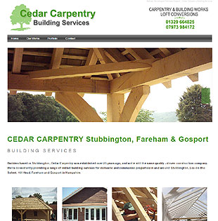 Web Design Fareham - example of a web design for a Stubbington carpenter